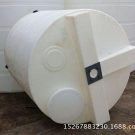 上海1000l塑料pe圆形搅拌加药箱 1立方加厚耐酸碱搅拌桶环