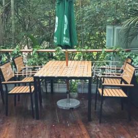 铝木户外桌椅