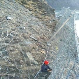 厂家边坡岩石防护网:钢丝绳双层主动防护网-GPS2型号一平米多钱