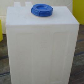 200L塑料搅拌桶全新PE加药箱搅拌罐 方形加药桶 白色200L