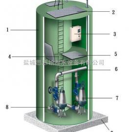 一体化地埋式引水预制泵站圆形玻璃钢筒体