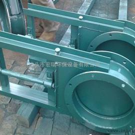 400×400密闭式手动单向插板阀厂家 密闭式手动螺旋插板阀价格