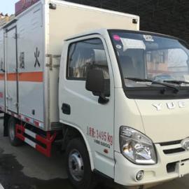 跃进小型易燃气体厢式运输车二类危险品运输车