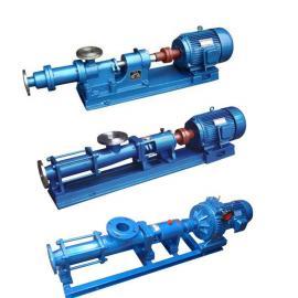 G35-1铸铁/轴不锈钢/整体不锈钢(防爆)单螺杆泵 浓浆泵供应商