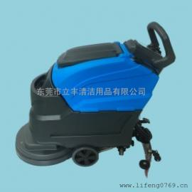 YL-DC50自动洗地机 盈乐手推电瓶式洗地机 无线自走式洗地机