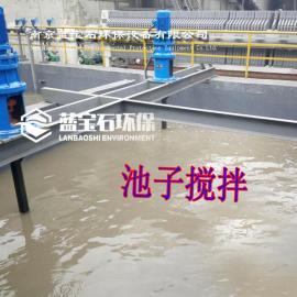 污泥用PAM成套溶药器LNJY-750机械搅拌桨