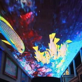 商场安装景观LED彩色天幕大屏生产厂家