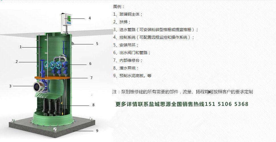 一体化预制泵站农田灌溉提升设备