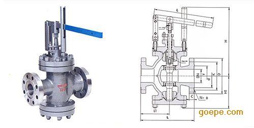 高品质y45h-16c杠杠式蒸汽减压阀 直接作用式杠杠减压图片