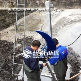 潜水循环推流器污水处理液下搅拌机QDT3kw1800聚氨酯