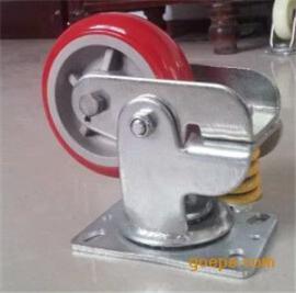 弹簧减震万向脚轮,聚氨酯弹簧减震万向脚轮,弹簧减震万向脚轮规