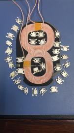 无线充电发射器线圈插座 MICRO USB母座 麦可5P沉板/破板式贴片