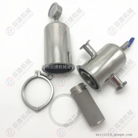 DN25卫生级过滤器 快装蒸汽过滤器 不锈钢蒸汽过滤器