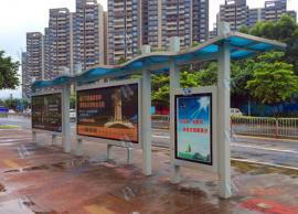 企石公交站台候车亭安装,东坑不锈钢公交站牌工厂定制