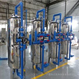 华兰达304机械过滤器 井水除铁锰大型游泳池水处理净化设备