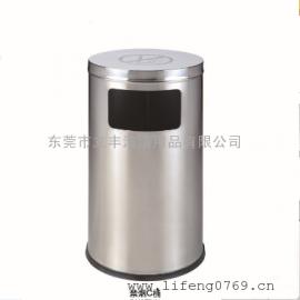 禁烟C桶 带禁烟标志的垃圾桶 不锈钢禁烟垃圾箱 圆形禁烟垃圾桶