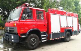 6吨东风天锦水罐泡沫两用消防车