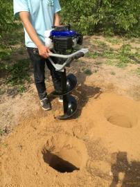 便携式单人手提植树挖坑机打洞快又准