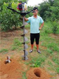 地面打洞神器雷力小型便携式地钻挖坑机