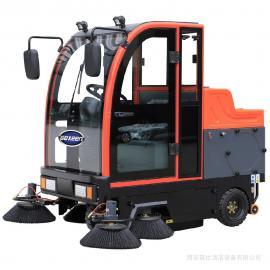 小区物业保洁用电瓶扫地车