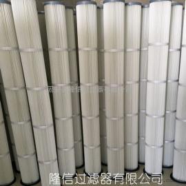 替代布袋滤筒 2米覆膜防静电除尘滤芯