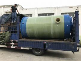 厂家热销GRP玻璃钢预埋式一体化污水提升泵站/预制泵站