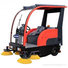 工厂车间地面粉尘灰尘清扫车 工业厂房道路路面电动电瓶扫地车