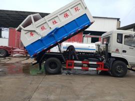 污水厂10吨污泥自卸车-后门硅胶密封污泥运输车报价