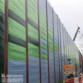 城市快速路隔音墙厂家供应商 镀锌金属板金属隔音墙