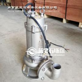 铸304不锈钢潜水排污泵WQ0.75kw提升泵