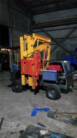 供应小型四轮护栏打桩机 小型液压护栏打桩机厂家直销