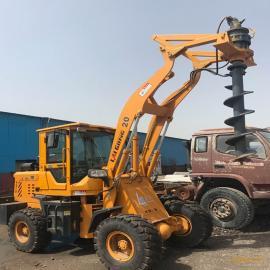 电线杆钻孔机 冻层土层电线杆钻坑机 可以根据铲车型号改装