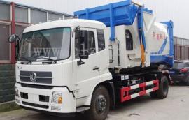 东风天锦10吨12吨勾臂垃圾车可配多个垃圾厢