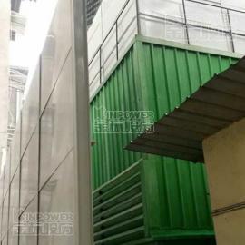 发电厂声屏障的安装现场