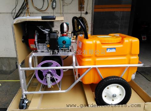 丸山CSH-100手推式高压机动喷雾机 丸山推车式机动喷雾器100L