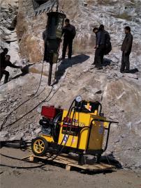 公路扩建分解岩石劈裂机