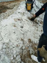 地铁修建遇岩石液压劈裂机