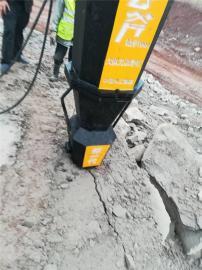 破石头的机器静态劈石机