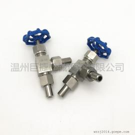 304不锈钢角式针型阀 J24W-160P 高压焊接 截止阀
