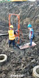 常用款管桩掏泥机双人操作更省力
