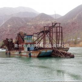 鼎科大型挖沙船 链斗式淘金淘沙船 大型采沙船设备报价