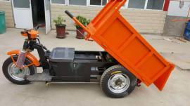 工地电动翻斗车拉砂浆混凝土人骑的电动自卸车