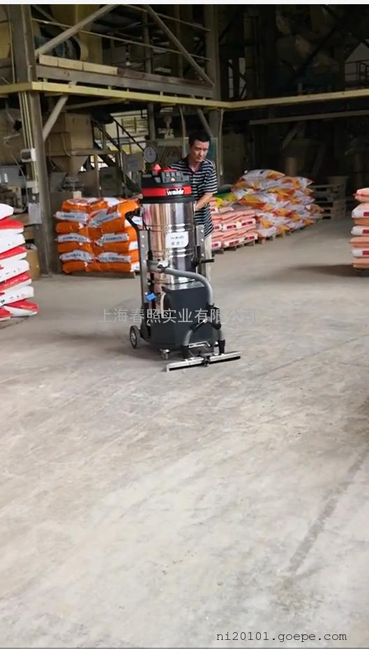 大型地下停车库用电瓶工业吸尘器吸小石子粉尘纸屑用吸尘设备