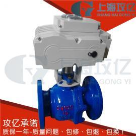 铸钢法兰电动球阀 法兰电动球阀Q941F-16C-DN65