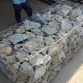 河渠机编六角石笼网 排洪修建河道格宾网箱-水利作业应用