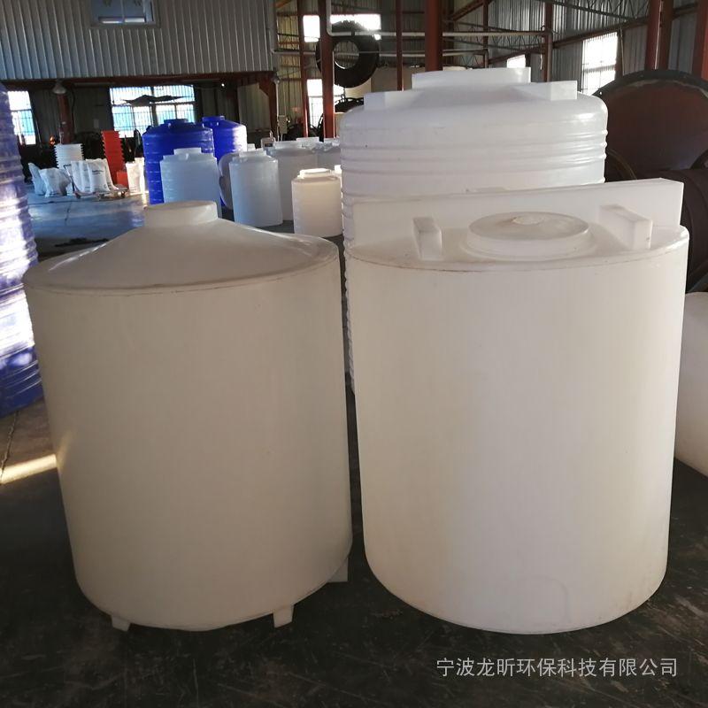 1000L加药箱PE食品级塑料搅拌桶1吨白色带刻度水箱