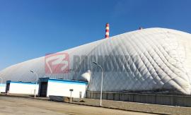 气膜煤棚-煤矿封闭式气煤棚-大跨度充气膜建筑煤棚-博德维