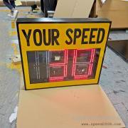 英文字体车速反馈仪雷达测速屏