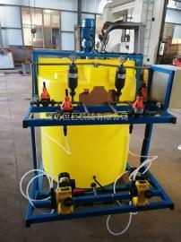双桶双泵杀菌灭藻剂阻泥剂全自动加药装置