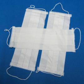 一次性白色双层纸口罩 卫生纸口罩
